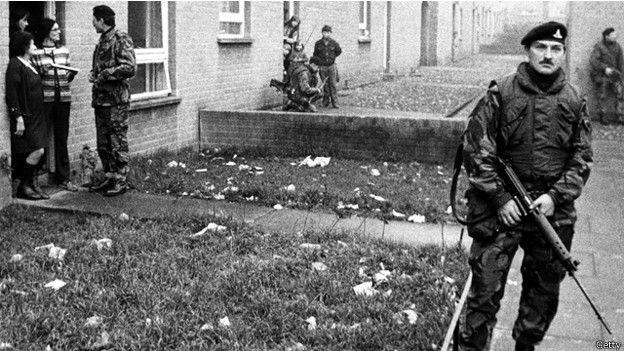 الجيش البريطاني في أيرلندا في السبعينات
