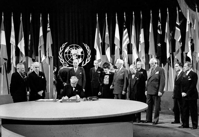 توقيع ميثاق الأمم المتحدة