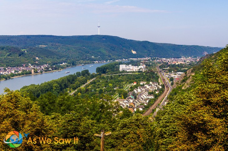 View of Rhine from the castle