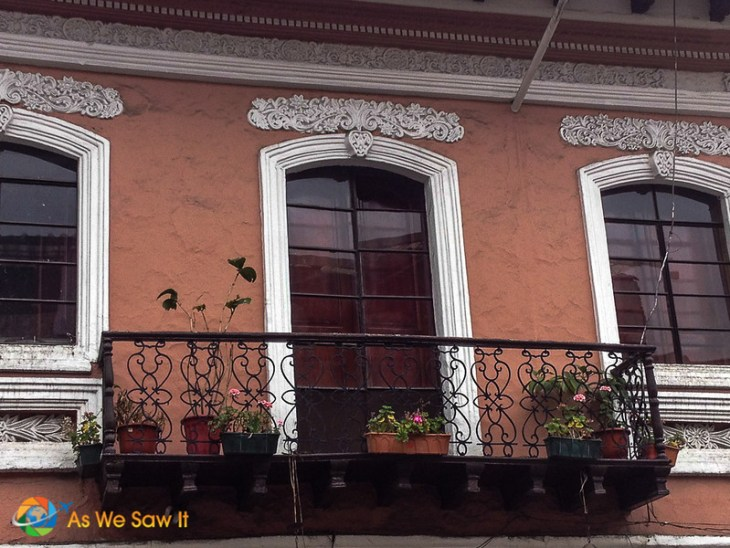 Detailed iron work on balconies in Cuenca should catch you eye.