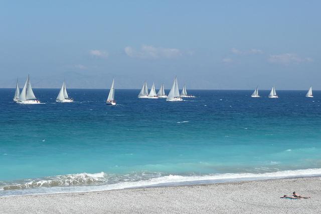 Beach Rhodes Greece