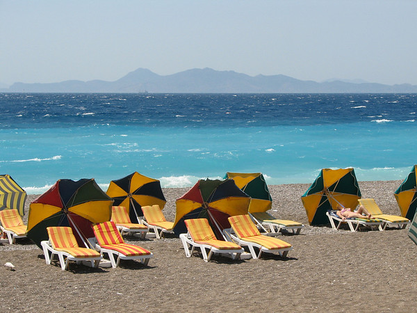 beach, Greek island, Rhodes