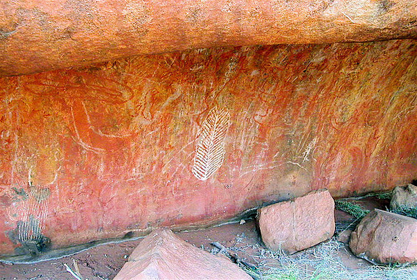 Aborigines rock drawings