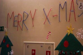 Decoration in Sophomores' hallway
