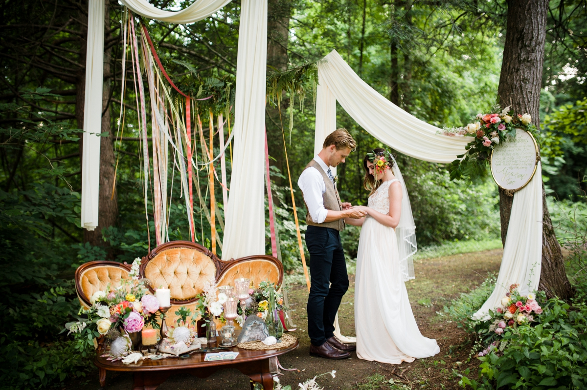 Alphonse Mucha Inspired Styled Shoot At Hunting Hill Mansion Philadelphia Wedding Photographer
