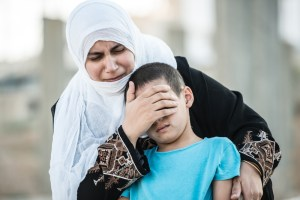 mother and son middle east shutterstock
