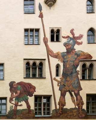 David vs. Goliath Mural | Asymmetric Marketing