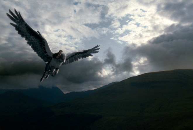 Flying a hippogriff first day of class. NBD. Dumbledore trust Hagrid to be awesome at teaching. And he is for at least one day.