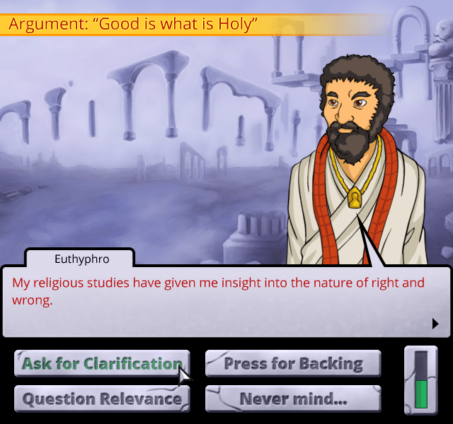 From an actual game called Socrates Jones