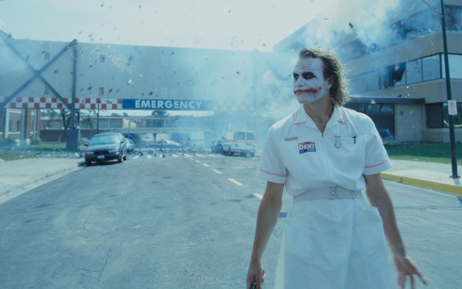 While the Joker wanted the public to believe the only options were murder a man or thousands in a hospital would die, the third choice of evacuate the hospital worked rather well. Copyright Warner Bros.