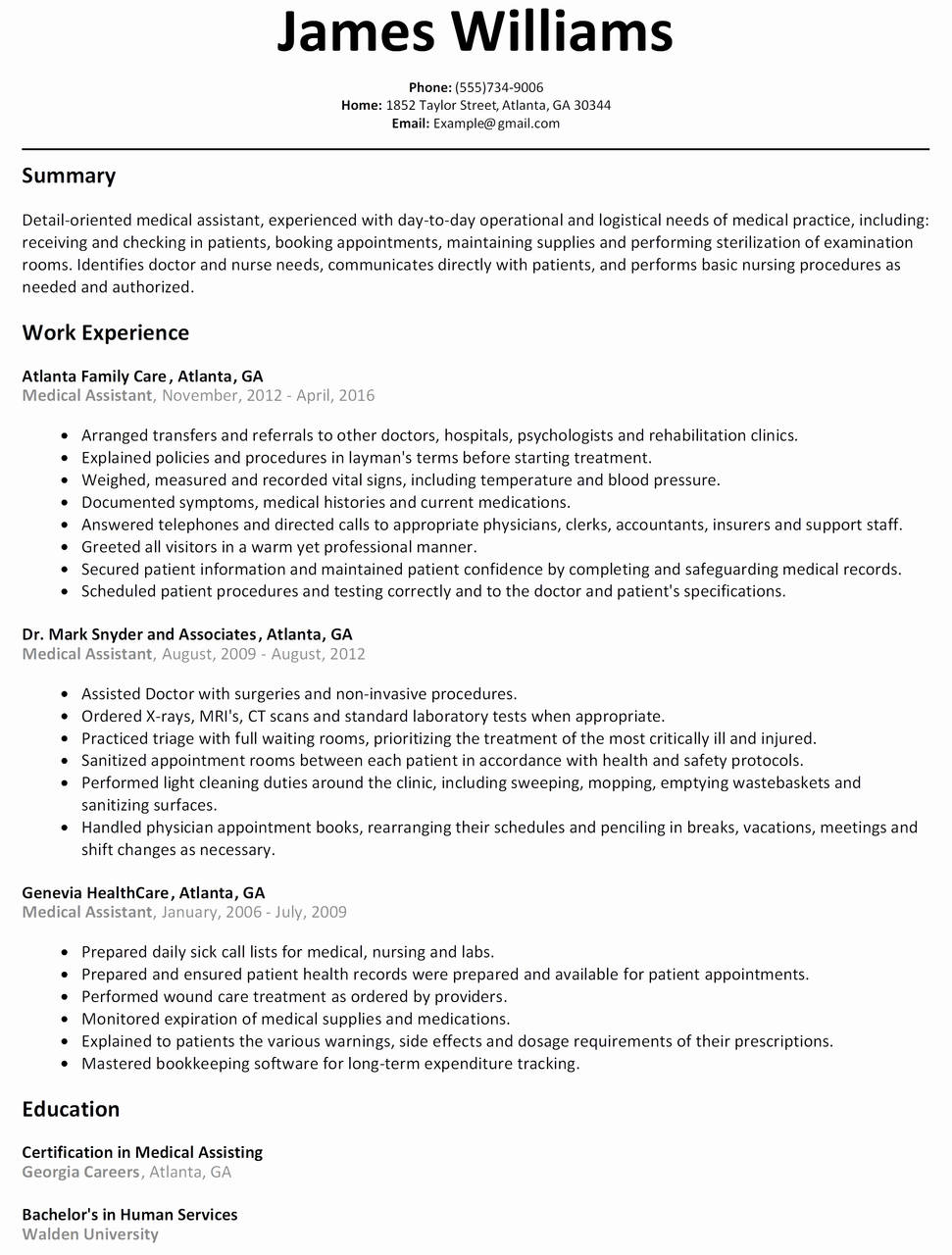 Example Resumes 8 Ken Coleman Resume Template Samples Resume Database Template