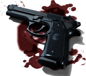 pistol-berdarah
