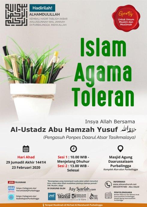 Islam Agama Toleran - Kajian Islam Ilmiah