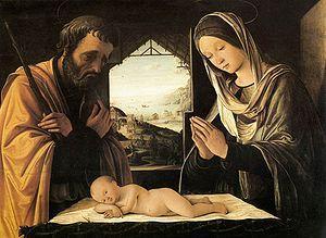 Lorenzo Costa: A szent család