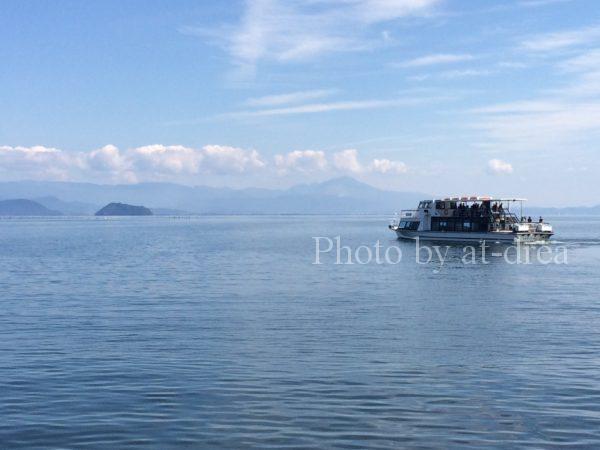 今津から竹生島観光船