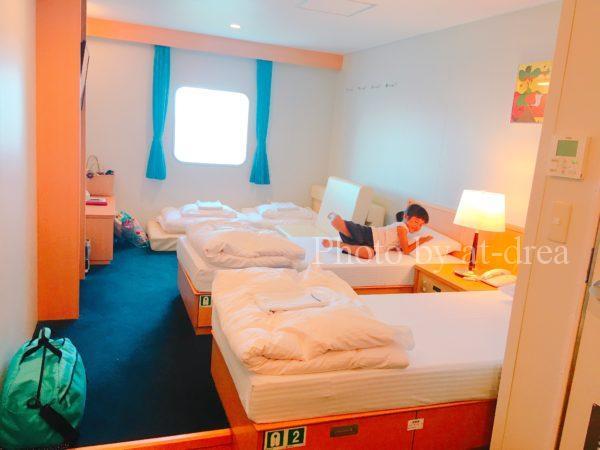 滋賀から北海道家族旅行 新日本海フェリー部屋
