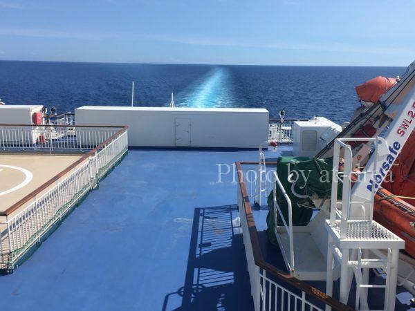 新日本海フェリー あざれあ 甲板より