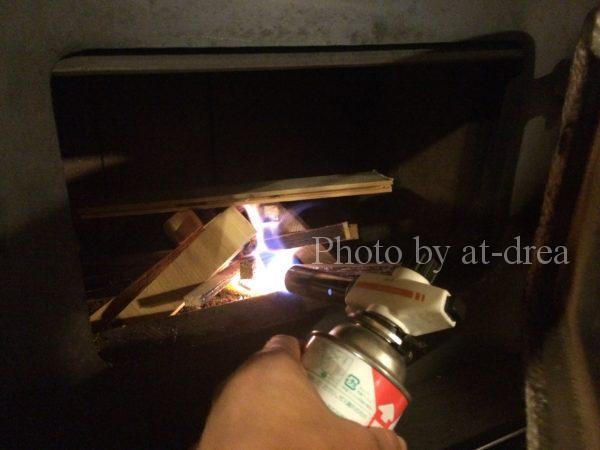 薪ストーブ 着火方法