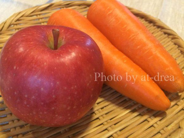 にんじんりんごジュース 素材