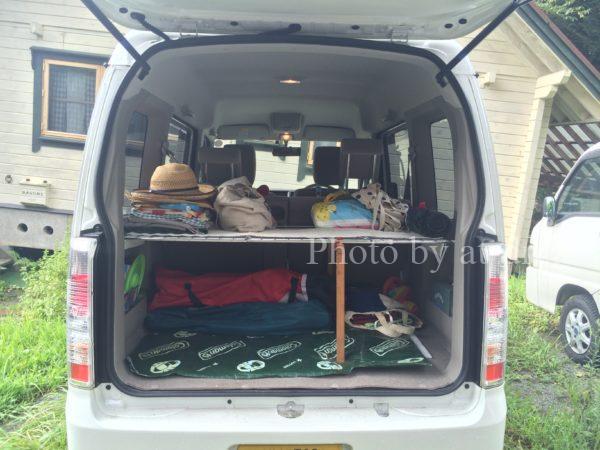 軽ワゴン トランク 収納中段