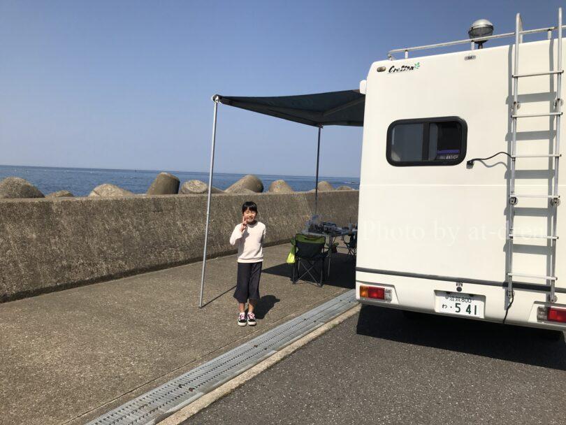 【越前海岸】キャンピングカー(キャブコン)のレンタル体験レポ