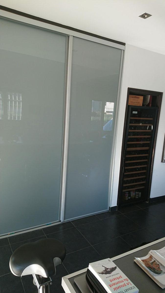 Porte Verriere Interieure Occasion porte vitrée placard | porte de placard coulissante noir