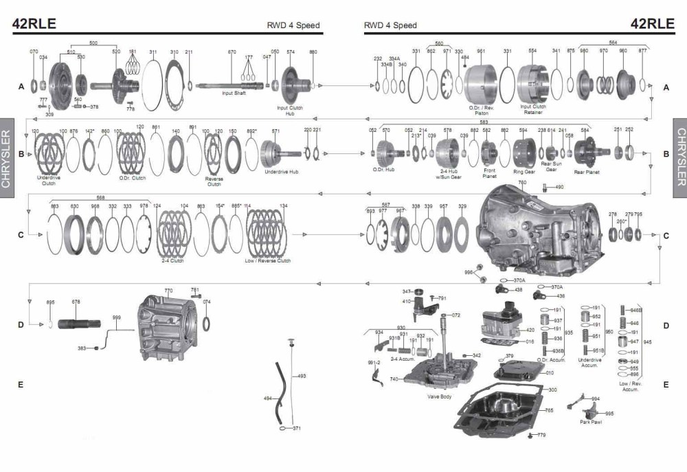 medium resolution of transmission repair manuals 42le a606 42rle instructions for 42rle transmission sensor diagram 42rle transmission diagram