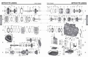 Transmission repair manuals A604, 40TE/ 41TE