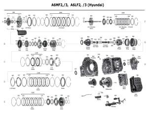 Transmission repair manuals A6LF1/2/3, A6GF1, A6MF1/2