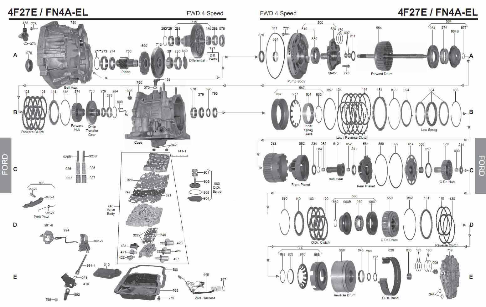Transmission Repair Manuals 4f27e