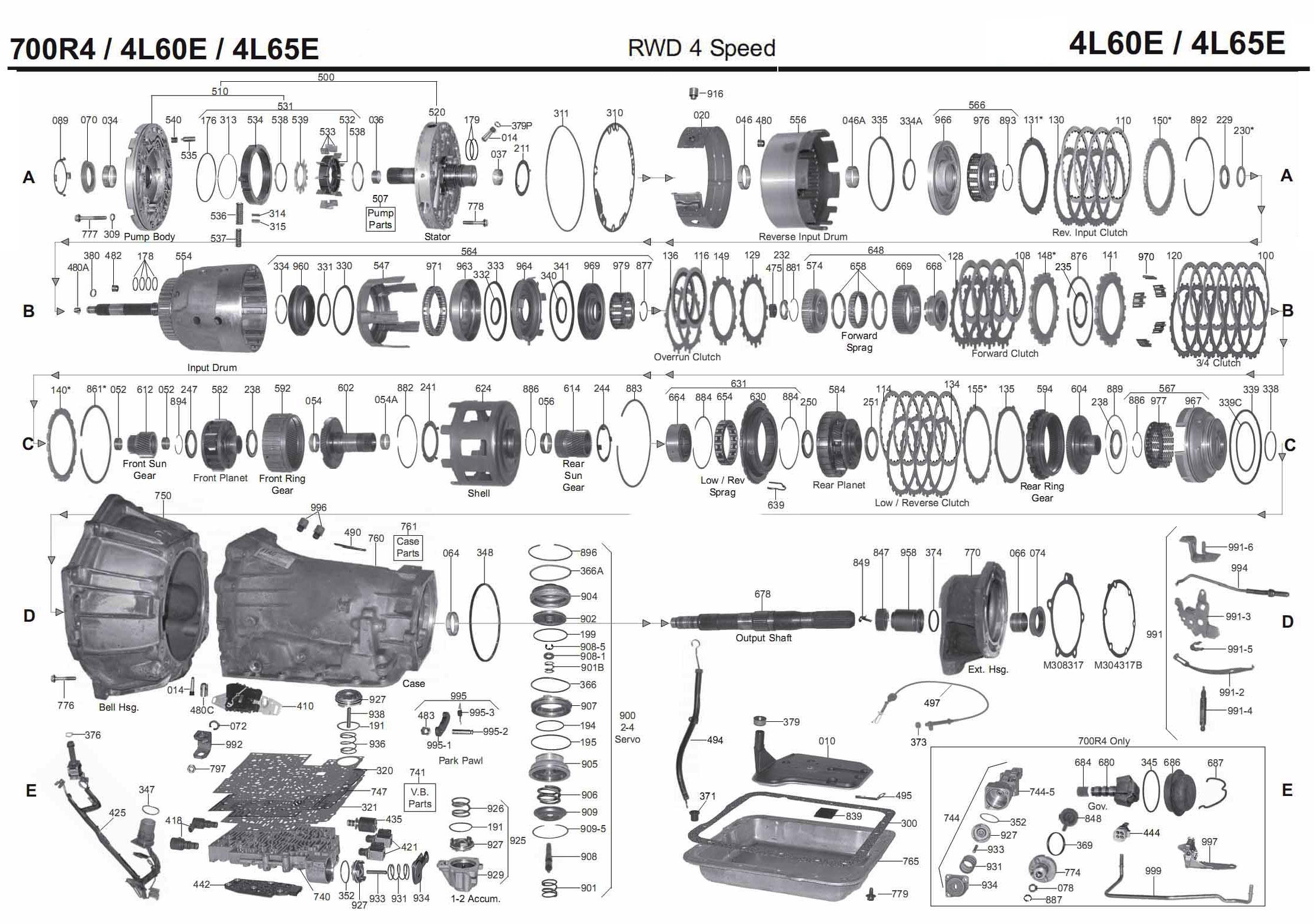 700r4 transmission wiring schematic