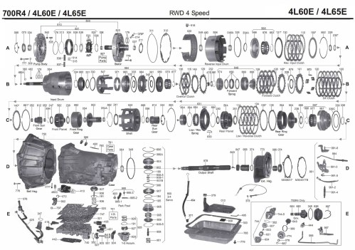 small resolution of gm 700r4 4l60e transmission parts diagram