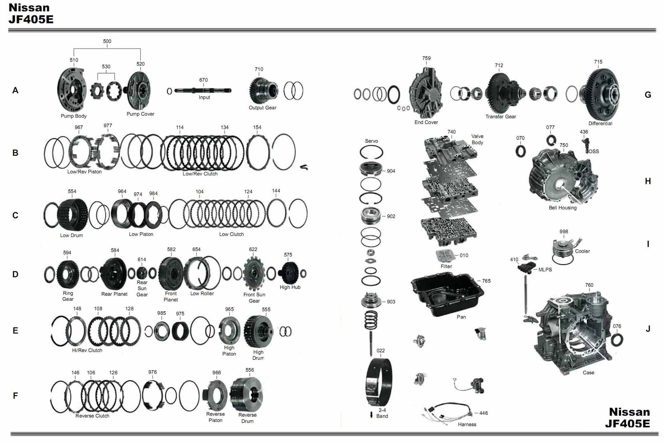 Transmission repair manuals JF402 Spark,Picanto, Matiz