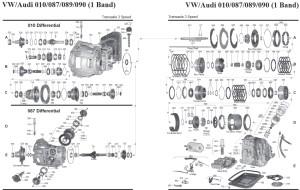 Transmission repair manuals 010 VW/Audi (087 / 089 / 090