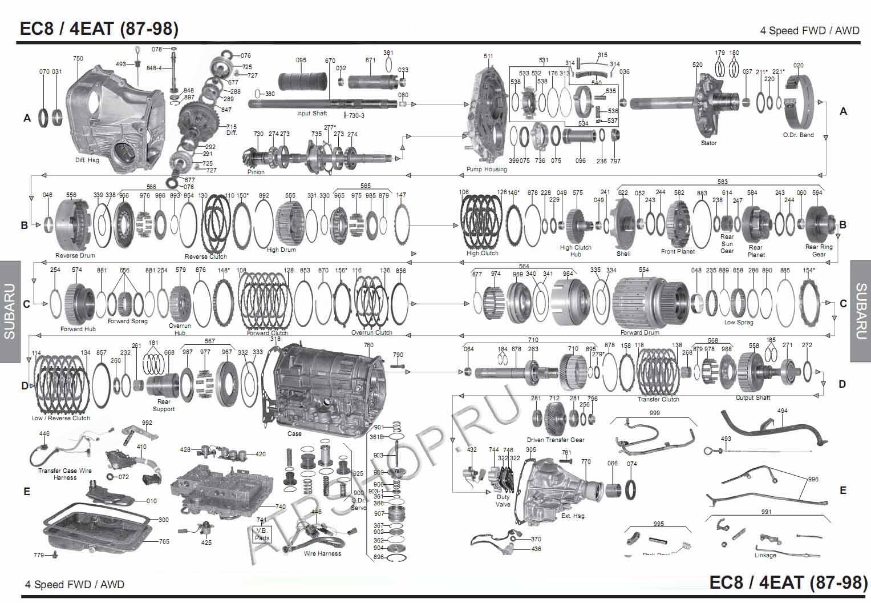 Transmission repair manuals R4AX-EL (EC8 87-98y