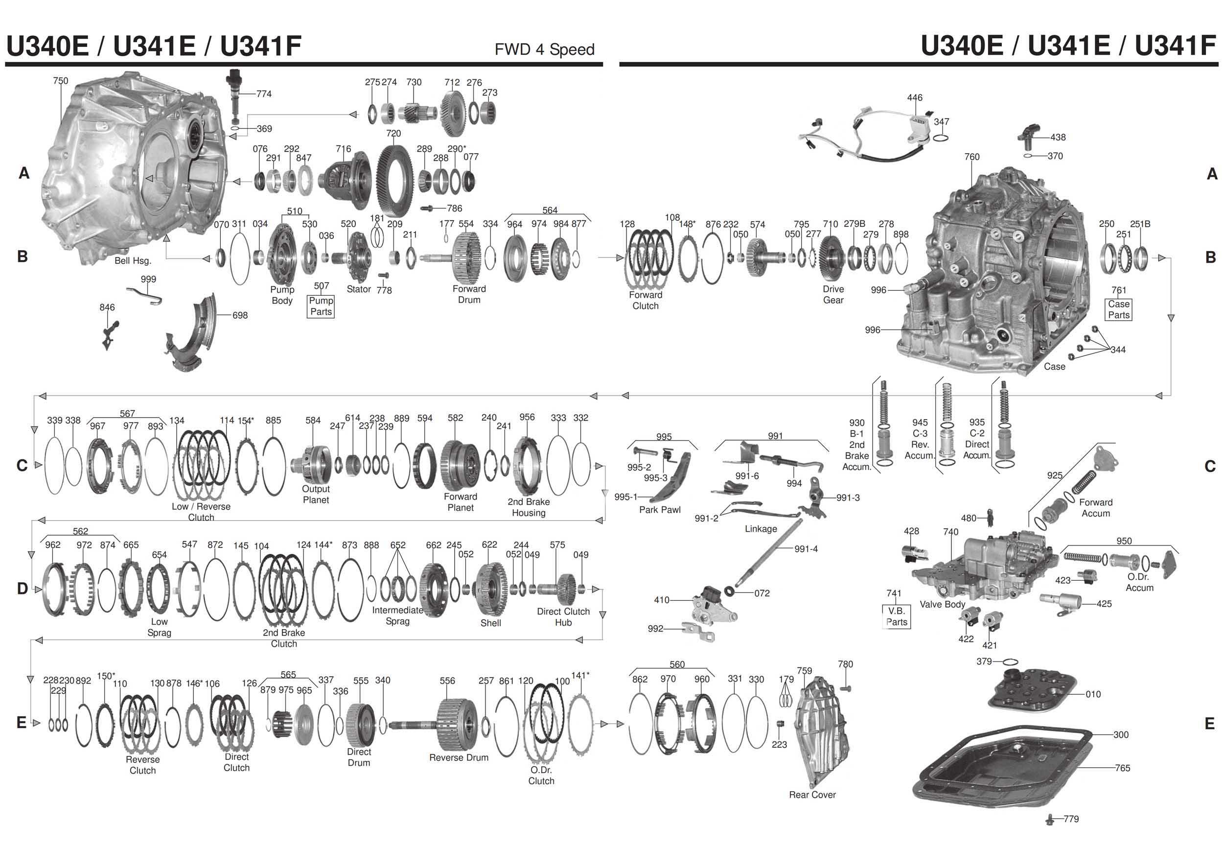 Transmission Repair Manuals U340