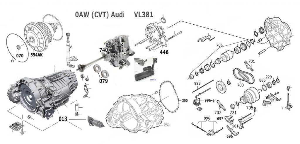 [MANULAS] Transmission Repair Manuals Cvt Audi 0aw Vl381