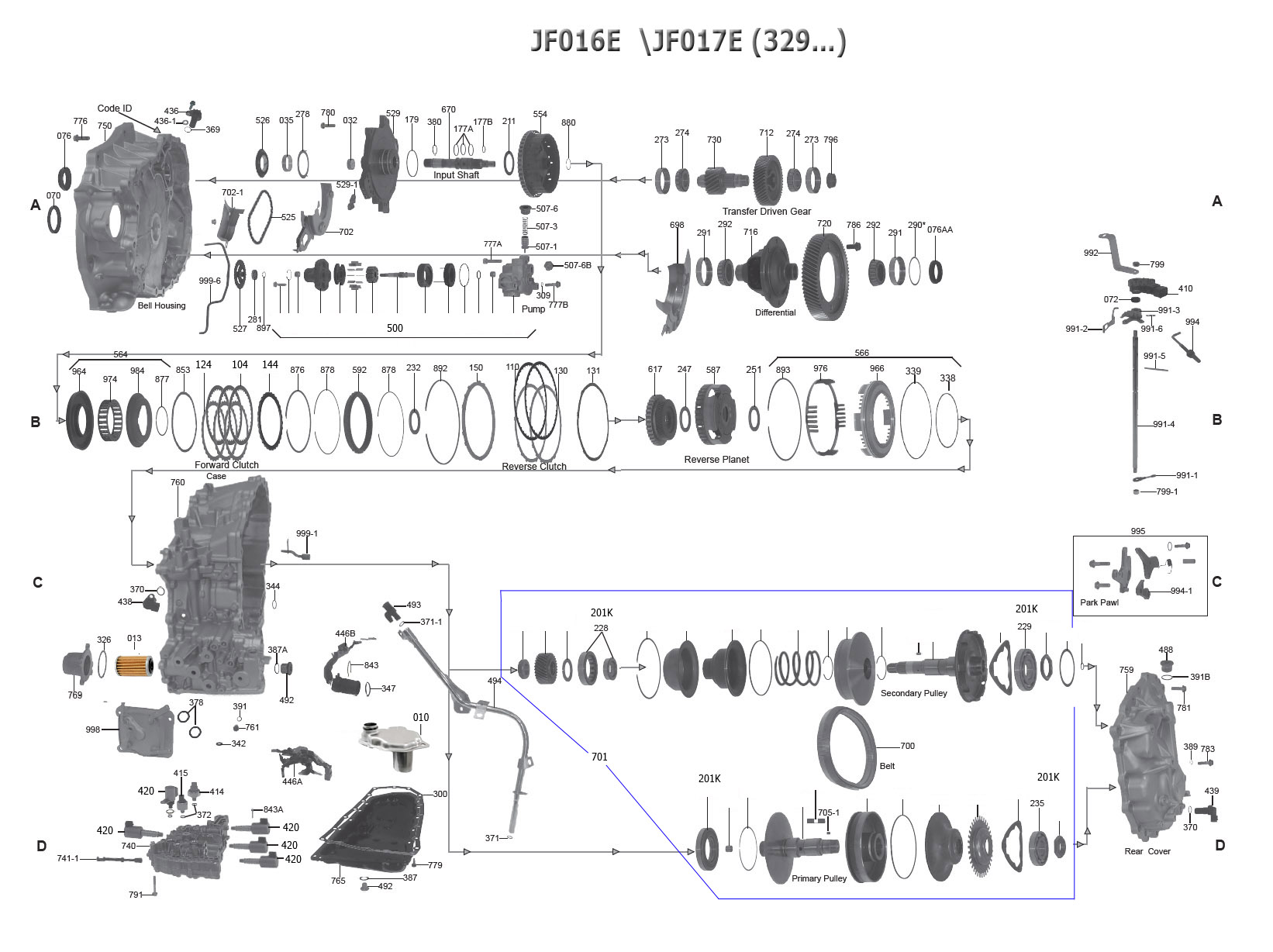 Transmission Repair Manuals Jf016e Re0f10d Cvt8