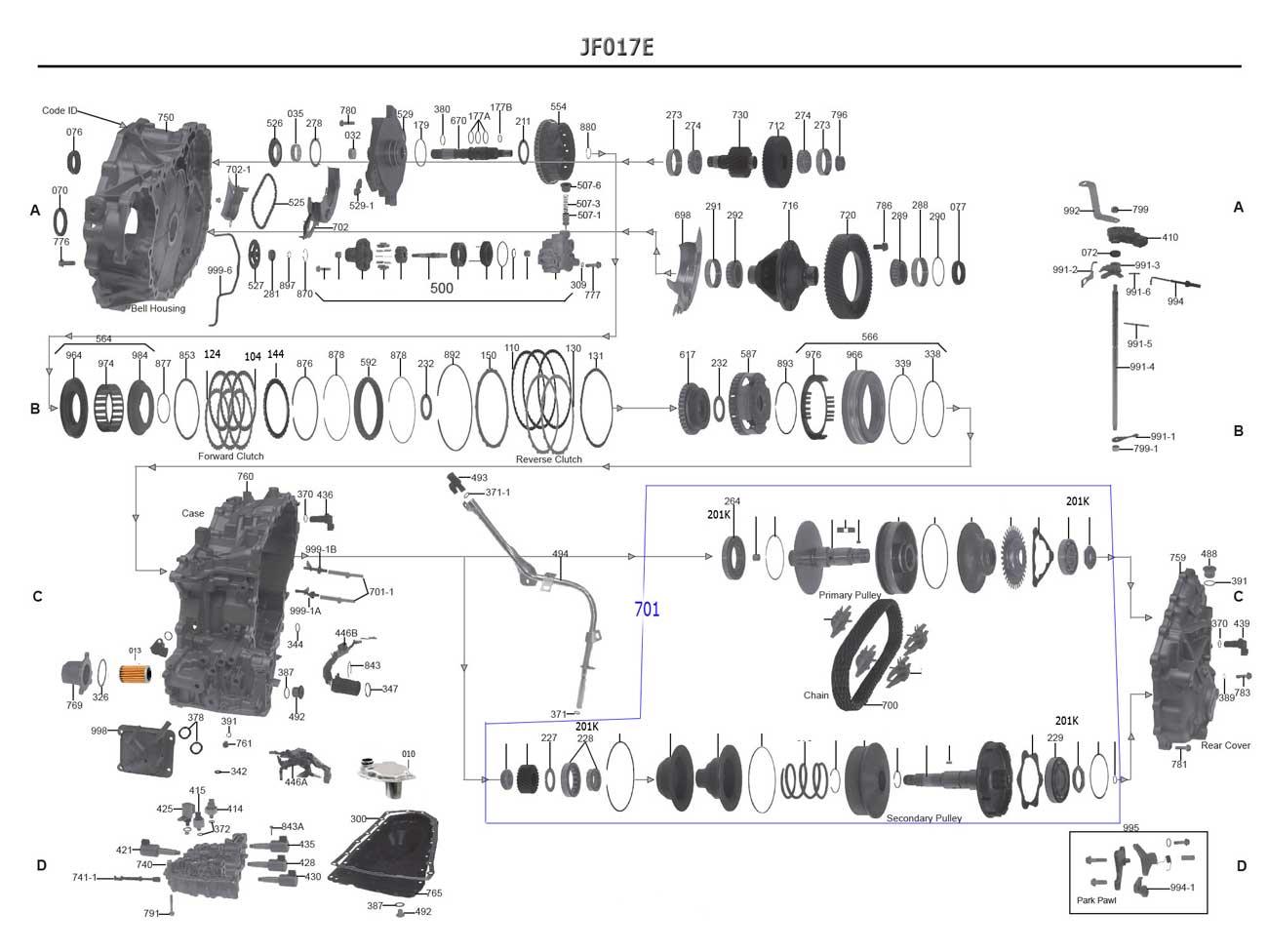 Transmission Repair Manuals Jf017e Cvt8