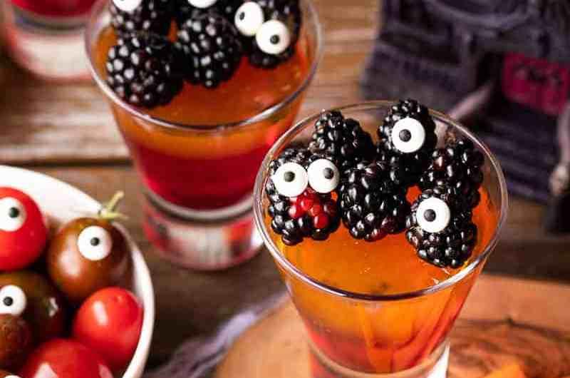 Vegan Jello Cups, a spooky Halloween treat