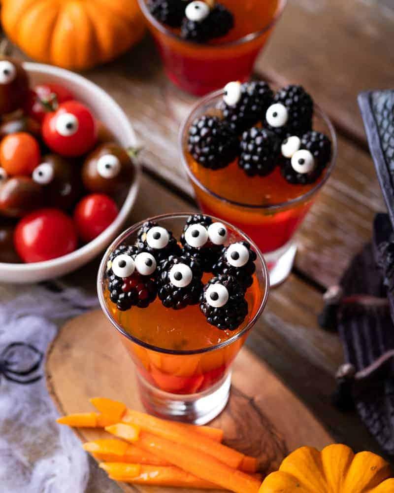 jello monsters, fun Halloween snack ideas