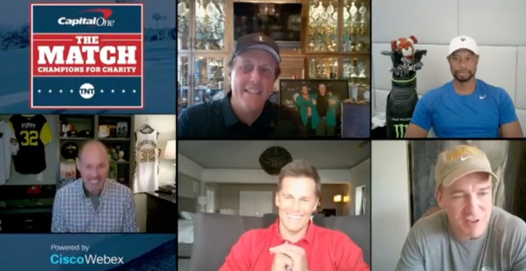 Peyton Manning Lets Tom Brady Have It In Hilarious Zoom Chat About Charity Golfing Tournament