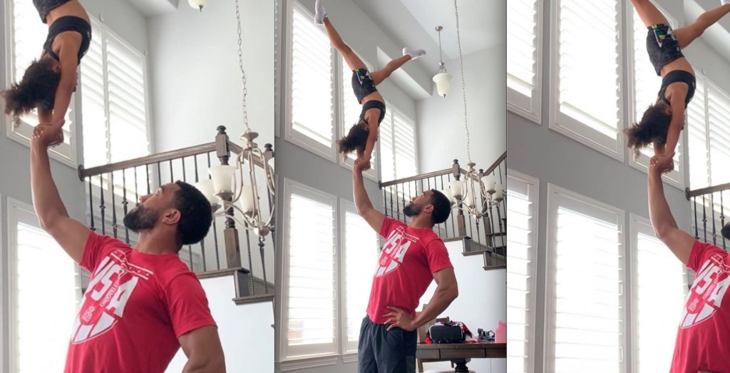 Dad Goes Viral After He Gave His Talented Daughter a Pep Talk After She Fell From Difficult Stunt