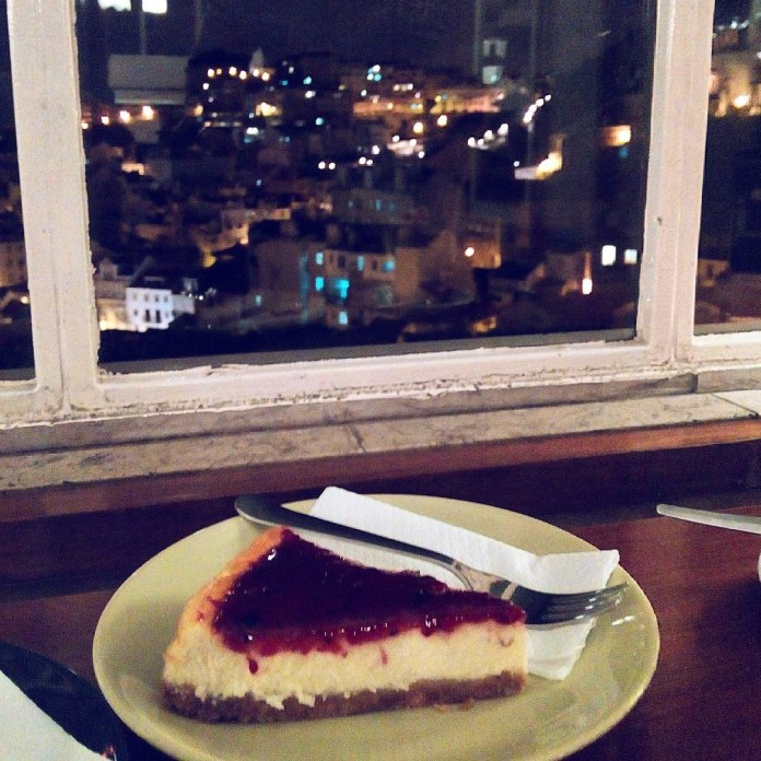 A sweet cheesecake paired up with a sweet view!
