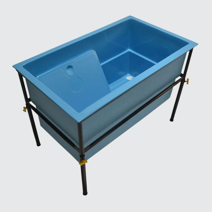 banheira para pet shop azul