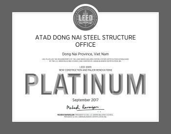 Bạch kim LEED ATAD Đồng Nai