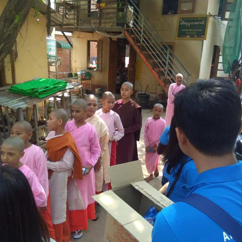 ATAD Myanmar team presented gifts to underprivileged children and the elderly 4