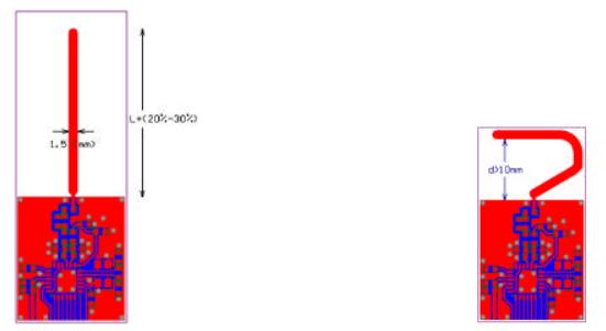 White Paper Quarter Wavelength Printed Monopole Antenna