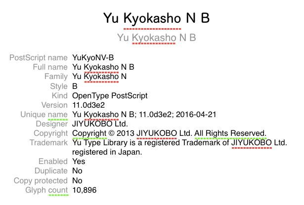 Yu Kyokasho N B 1