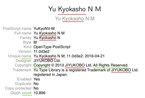 Yu Kyokasho N M 1